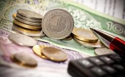 Monety i kalkulator - Kliknięcie w obrazek spowoduje wyświetlenie jego powiększenia